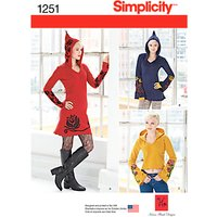 Simplicity Women's Knit Dress and Tunic Sewing Pattern, 1251