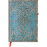Paperblanks Filigree Maya Blue Midi Journal