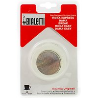 Bialetti Moka Express Hob Espresso Maker Replacement Gaskets and Filter