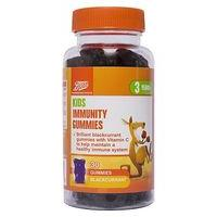 Boots Kids Immunity Gummies Blackcurrant Flavour 30 Gummies