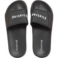 Firetrap Mens Pool Slide Sandals Black