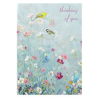 Woodmansterne Blue and Yellow Budgies Sympathy Card