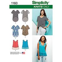 Simplicity Women's Top Sewing Pattern, 1160, A