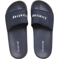Firetrap Mens Pool Slide Sandals Navy