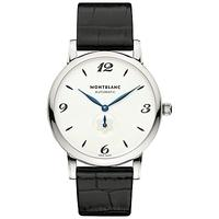 Montblanc 107073 Men's Star Classique Automatic Alligator Leather Strap Watch, Black/White