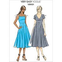 Vogue Very Easy Women's A-Line Dress Sewing Pattern, 9101
