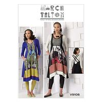 Vogue Marcy Tilton Women's Top, Dress and Leggings Sewing Pattern, 9108