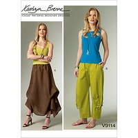 Vogue Kathryn Brenne Women's Skirt and Trousers Sewing Pattern, 9114