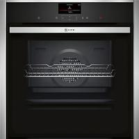 Neff B57CS24N0B Slide and Hide Single Electric Oven, Stainless Steel