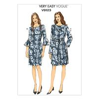 Vogue Very Easy Women's Jacket, Belt And Dress Sewing Pattern, 9123