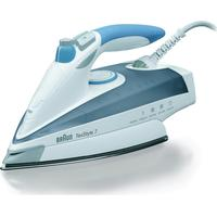 BRAUN TexStyle 7 TS765A Steam Iron - Grey & Blue, Braun