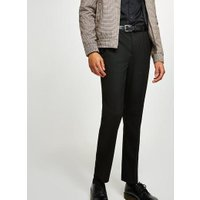 Mens Black Slim Fit Smart Trousers, Black