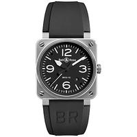 Bell & Ross BR0392-BL-ST Men's Automatic Date Rubber Strap Watch, Black
