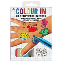 Colour-In Temporary Tattoos