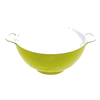 COLOURWORKS Small Colander - Green & White, Green