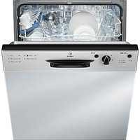 Indesit DPG15B1NX Ecotime Semi-Integrated Dishwasher, Stainless Steel
