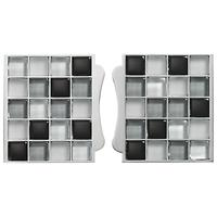 Aqualisa Mosaic Tile Inlays, Set of 2, Black