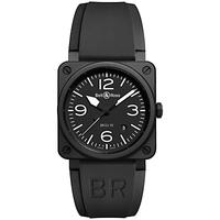 Bell & Ross BR0392-BL-CE Men's Rubber Strap Watch, Black