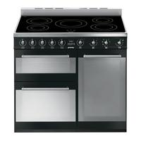 SMEG Symphony 90 cm Electric Induction Range Cooker - Black & Stainless Steel, Stainless Steel