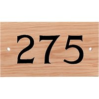 The House Nameplate Company Personalised Iroko Wood House Number, 3 Digit, Black