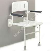 Wall Mounted Seat With Arms And Back Seat 160kg 4.9kg (590mm x 900mm)