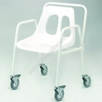 Mobile Shower Chair with Detacheable Arms (550mm x 900mm x 540mm)