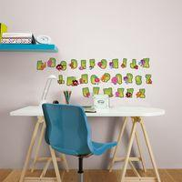 Graham & Brown Moshi Monsters Alphabet Stickers, Brown