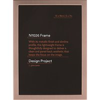 Design Project by John Lewis No.026 Rose Gold Finish Photo Frame, 5 x 7