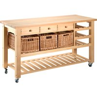 Eddingtons Lambourn Butcher's Trolley Wine Rack, Large, Beech Wood