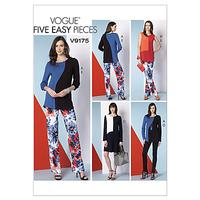 Vogue Women's Dress and Tops Sewing Pattern, 9175