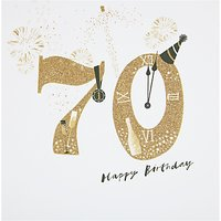 Woodmansterne Champagne Party Hat 70th Birthday Card