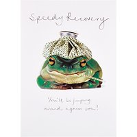 Woodmansterne Frog Speedy Recovery Get Well Card