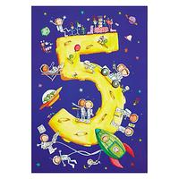 Woodmansterne Space and Spaceships 5th Birthday Card