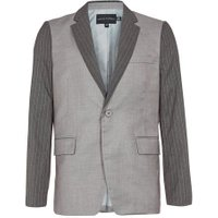 Mens Brown ROGUES OF LONDON Stripe Suit Jacket, Brown