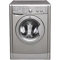 Indesit IWDC6125S Ecotime Freestanding Washer Dryer, 6kg Wash/5kg Dry Load, B Energy Rating, 1200rpm