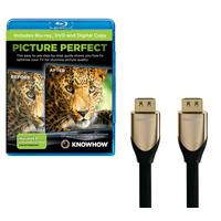 KNOWHOW Picture Perfect & 3 m HDMI Cable with Ethernet Bundle, Gold