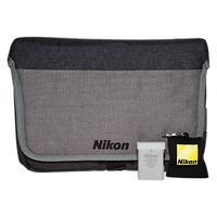Nikon DSLR Accessory Kit With Carry Case, Lens Cleaning Cloth & Spare Battery