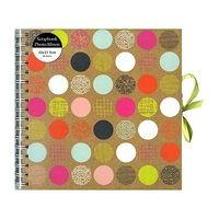 Patchwork Coloured Spot Kraft Scrapbook - 40 sheets
