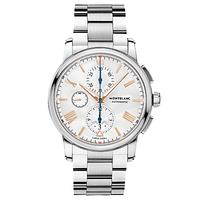 Montblanc 114856 Men's 4810 Automatic Chronograph Date Bracelet Strap Watch, Silver/White