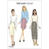 Vogue Misses' Women's Buttoned Wrap Skirt Sewing Pattern, 9209