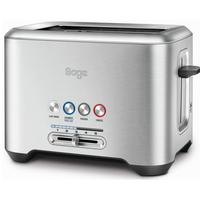 SAGE by Heston Blumenthal A Bit More 2-Slice Toaster - Silver, Silver