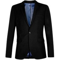 Mens Black Skinny Fit Suit Jacket, Black