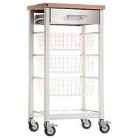 Don Hierro Onda Butcher's Trolley / Vegetable Rack, Ivory White