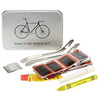 John Lewis Puncture Repair Kit Cycling Tin, Silver