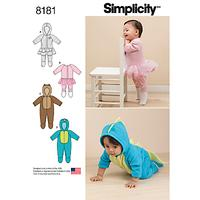 Simplicity Baby Romper Sewing Pattern, 8181