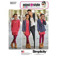 Simplicity Mimi G Style Children's Dress and Jacket Sewing Pattern, 8227