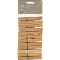 John Lewis Pack 24 Clothes Pegs FSC-certified (Pine)