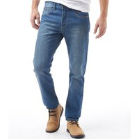 Feraud Mens 5 Pocket Reg Slim Fit Jeans Stone Wash