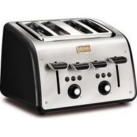 TEFAL Maison TT7708UK 4-Slice Toaster - Stainless Steel & Chalkboard Black, Stainless Steel