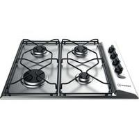 INDESIT PAA 642 IX/I WE Gas Hob - Silver, Silver